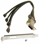 HP Ext MiniSAS 4x ENV w PCI Bracket Cable NEW 432486-002
