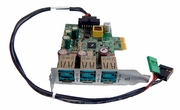 HP rp581 rp5810 POS 12V Powered USB Card 754888-001 with Cable 754109-001