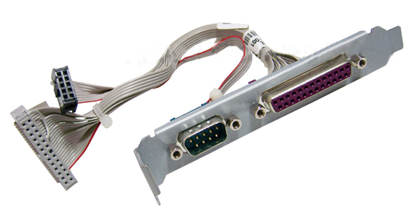 HP Serial Parallel IO port with Cables NEW 394061-001