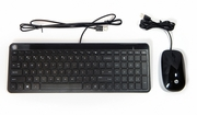 HP Galeras USB Slim Keyboard & Mouse Wired New 801526-001