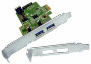 HP USB 3.0 2x2 SuperSpeed PCIe x1 Card New HI343-1 Rev 3.2 Std & LP 609885-001