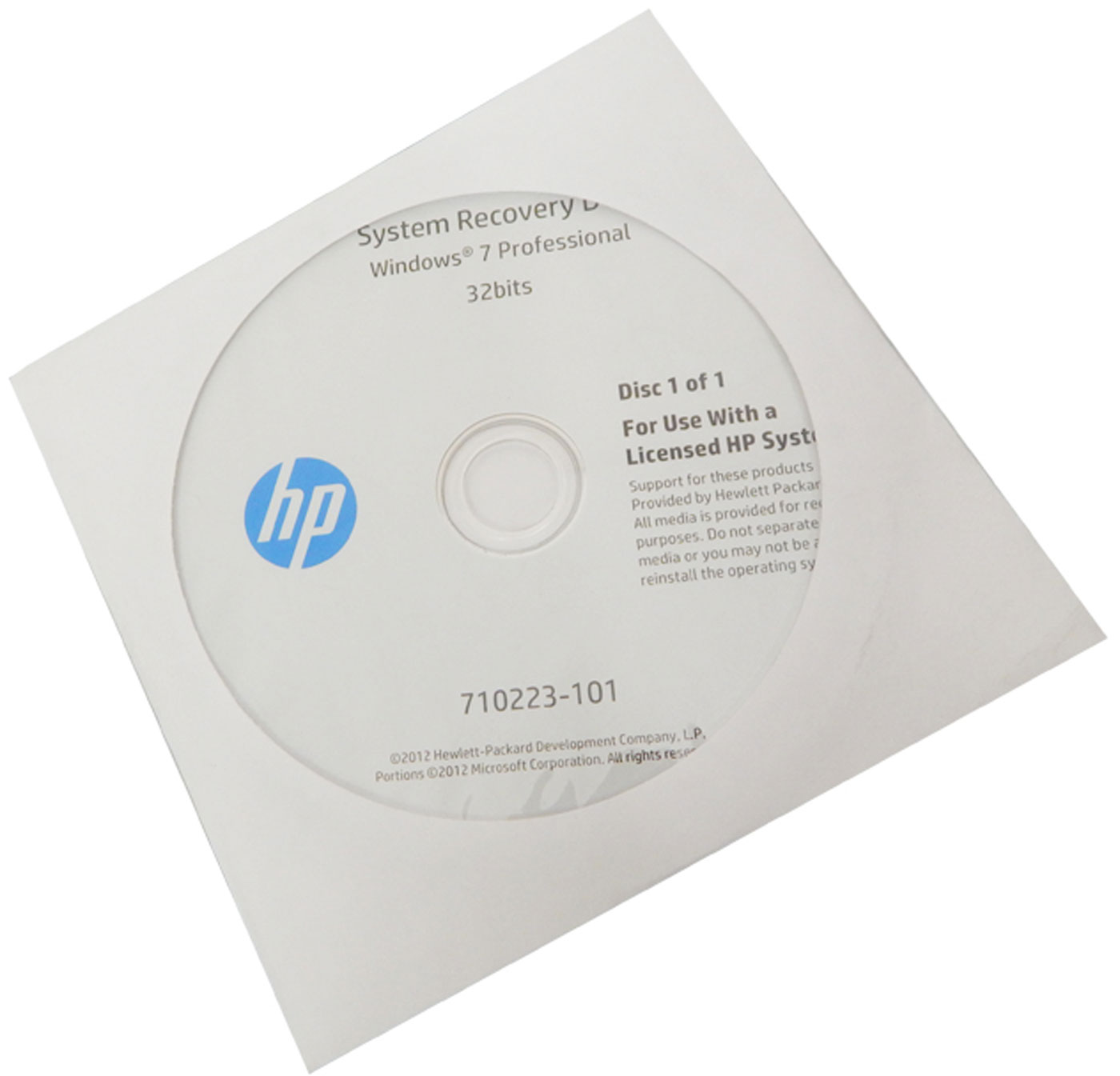 hp g5000 recovery cd
