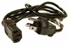 IBM 5-15P-C13 18AWG 6Ft Black Power Cord 39M5074 3x0.824mm 18AWG Cable