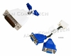 IBM 73P9598 DMS-59 Male to Dual VGA Cable 73P9597 LFH59 Y-Splitter Cable
