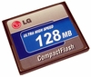 LG Ultra High Speed 128MB Compact Flash Memory LGCF128