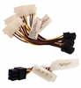 Lot-15 EVGA 6p-2xM Power Video Cable New G01-PW2-L15 G01-PW2-3-4P-2F