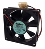 Lot-4 Nidec 12vDC 0.08a 25x80mm Fan D08T-12PLR-L4 2-Wire Beta SL