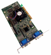 Matrox G400 Max PWS 32 AGP Video G4-MMDHA32-DELL G4+MMDHA32/Dell Card
