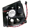 MaxFlow 12v 0.10a 80x25mm 2-Wire 3-Pin FAN 8025D1-LSPL 80x80x25mm DC Brushless