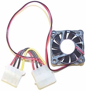 Minton 12v DC 0.09a 40x12mm 2-Wre Molex FAN N9990002 with Power 4-Pin Connector