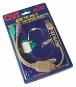 QVC USB to PS2 Keyboard and Mousr Adaptor USB-PS2Y New Retail