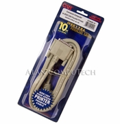 QVS 10FT iEEE1284 Parallel Printer Cable New CC404D-10