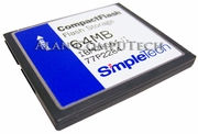 SimpleTech 64MB 77P2284 CompactFlash Card IBMCF064JI 00-01186-0A4I Flash Storage