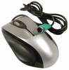 Tornado Wired Scroll PS2 Mouse New 3D-OPTICAL-MOUSE 5V-100mA Black- Silver Bulk
