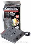 Waber 6-Outlet Wall Mount Surge Protector New SWT6NT 3-Line protection