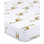 Aden + Anais Classic Crib Sheet - Jungle Jam - Giraffe