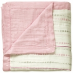 Aden + Anais Bamboo Dream Blanket - Tranquility - Beads & Solid Rose