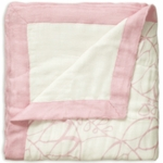 Aden + Anais Bamboo Dream Blanket - Tranquility - Leafy & White