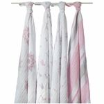 Aden + Anais Classic Swaddle Wrap 4 Pack - For The Birds