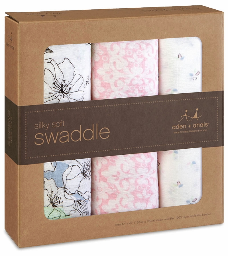aden anais silky soft swaddles 3 pack meadowlark. Black Bedroom Furniture Sets. Home Design Ideas
