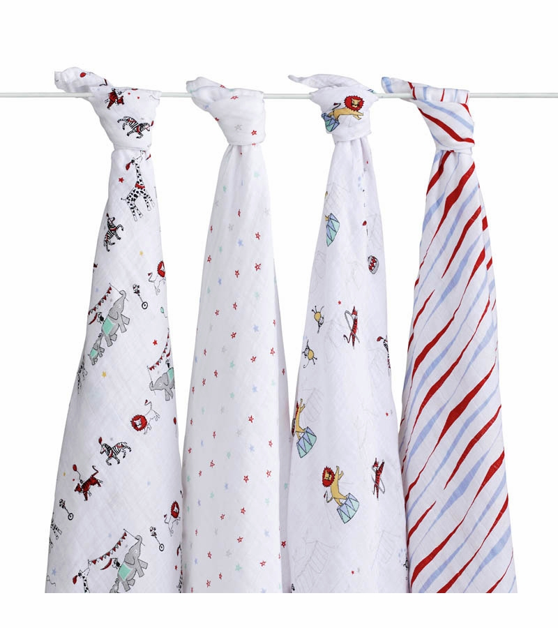 Aden And Anais Swaddle Blankets Enchanting Aden Anais Classic Swaddle Wrap 60 Pack Vintage Circus