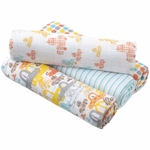 Aden + Anais Classic Swaddle Wrap 4 Pack, Zutano - Sunday Drive