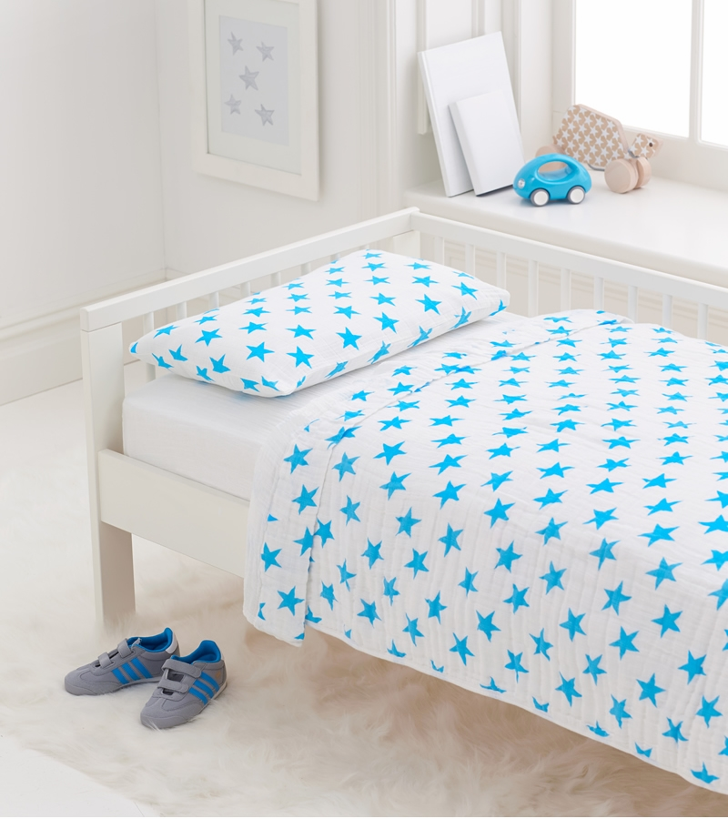 aden anais toddler bed in a bag fluro blue. Black Bedroom Furniture Sets. Home Design Ideas