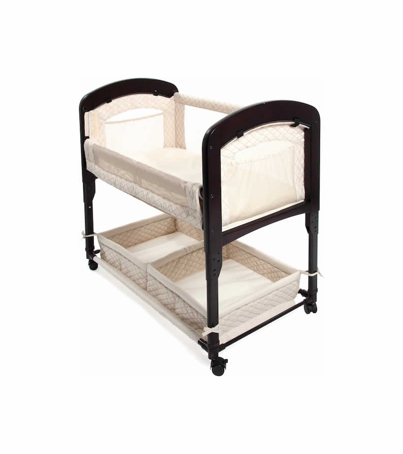 Arm 39 S Reach Cambria Wood Co Sleeper Bassinet