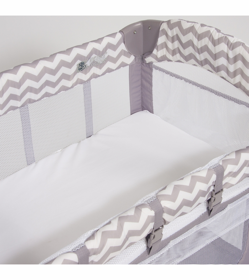 arm u0026 39 s reach mini arch co sleeper in chevron
