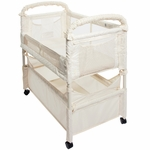 Arm's Reach Mini Clear-Vue Co-Sleeper - Natural