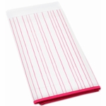 Auggie Crib Skirt in Painted Stripe Pink