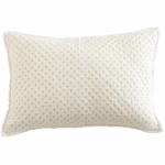Auggie Cross-Stitch Decorative Pillow Cover in Fern
