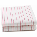 Auggie Fitted Sheet in Painted Stripe Pink