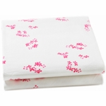 Auggie Fitted Sheet in Pretty with Pink