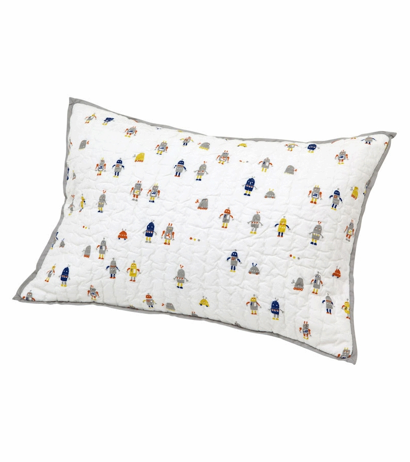 Decorative Quilted Pillow Covers : Auggie Quilted Decorative Pillow Cover in Robot March