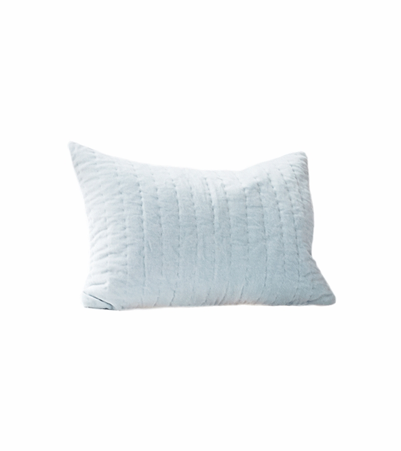 Decorative Quilted Pillow Covers : Auggie Quilted Decorative Pillow Cover - Velvet Blue Jasper