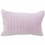 Auggie Quilted Decorative Pillow Cover - Velvet Lilac Milly