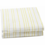 Auggie Twin Fitted Sheet in Painted Stripe Fern