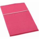 Auggie Twin Fitted Sheet in Solid Pink