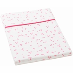 Auggie Twin Flat Sheet in Little Flutter Pink