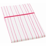 Auggie Twin Flat Sheet in Painted Stripe Pink