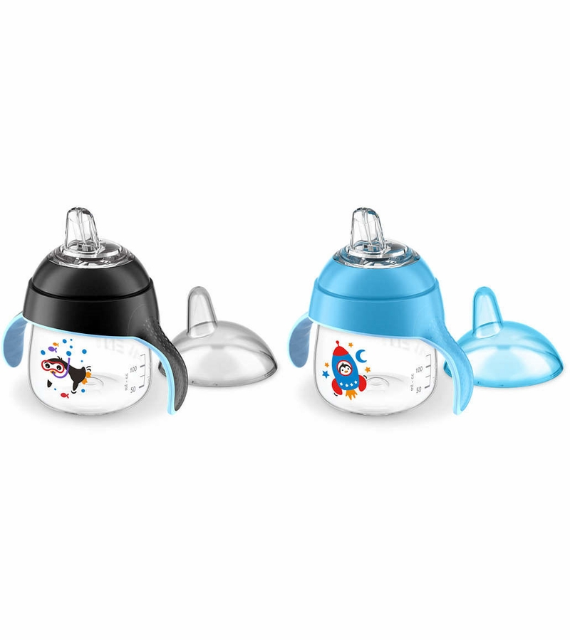Avent Sippy Cup Tops : Avent my little spout sippy cup pack oz black blue