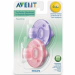 Avent Soothies 0-3 Months in Purple/Pink