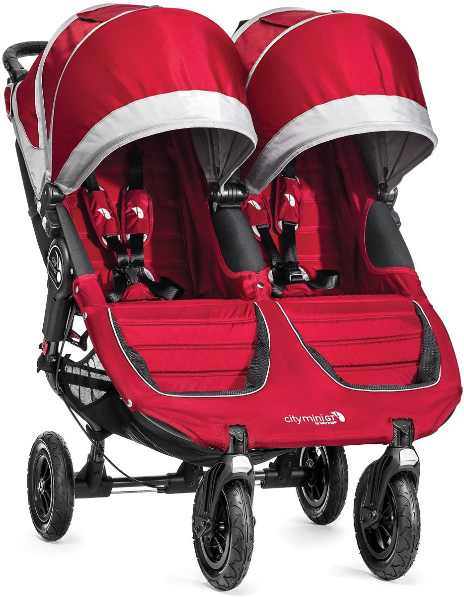 Baby Jogger City Mini Gt Double Stroller 2016 2017 Crimson