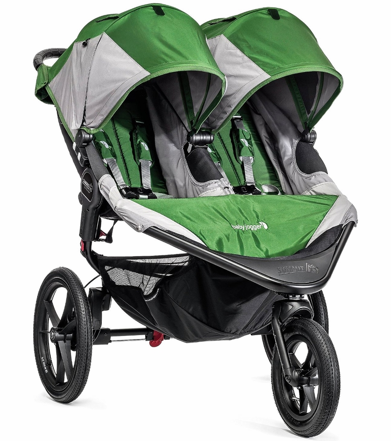 Baby Jogger 2016 Summit X3 Double Jogging Stroller Green