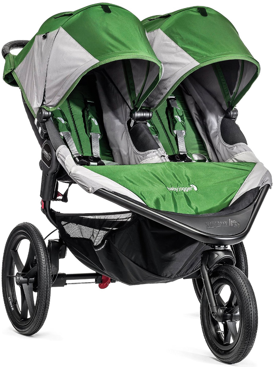 Baby Jogger 2016 Summit X3 Double Jogging Stroller - Gree...