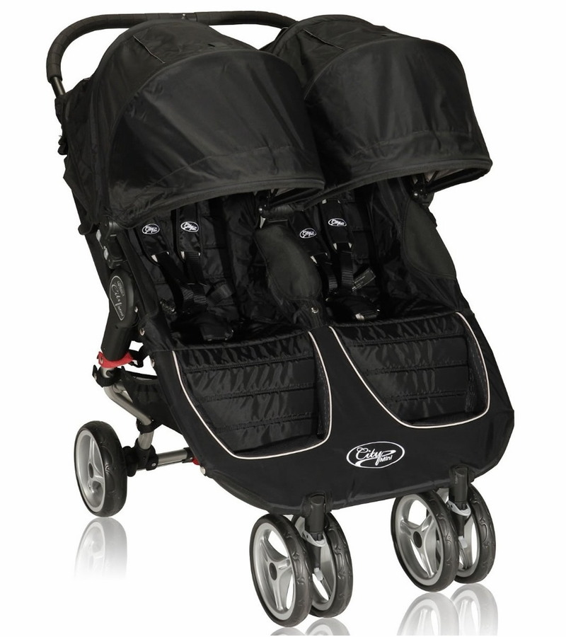 baby jogger city mini double 2013 stroller black gray. Black Bedroom Furniture Sets. Home Design Ideas