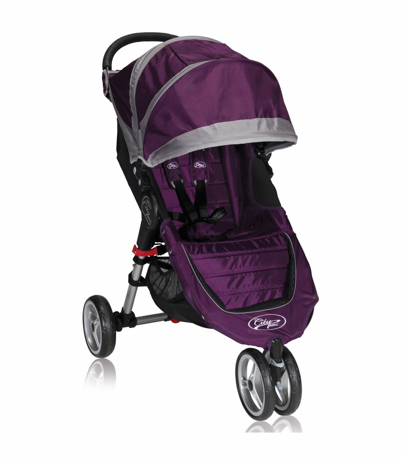 baby jogger city mini single 2013 stroller purple gray. Black Bedroom Furniture Sets. Home Design Ideas