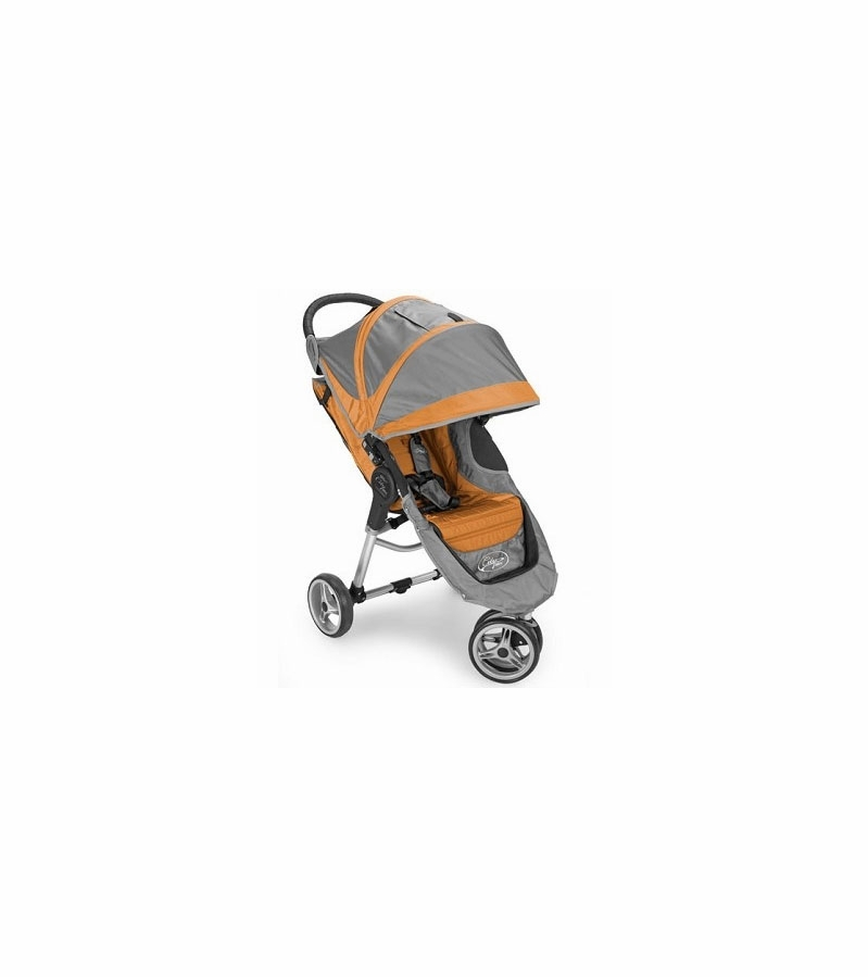 Baby Jogger City Mini Single 8 Quot Stroller In Gray Orange
