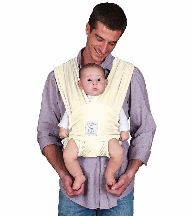 Baby K Tan Baby Carrier In Natural Organic Extra Small